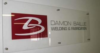 Interior glass Signs