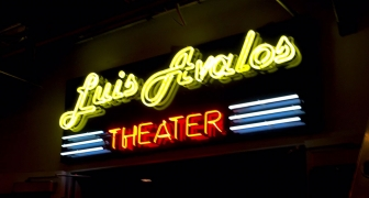 Luis Avalos Theater Neon Sign