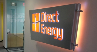 Direct Energy back-lit sign