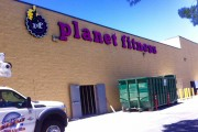 Planet Fitness wall sign   Lancaster