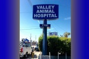Valley Animal Hospital Pole Sign