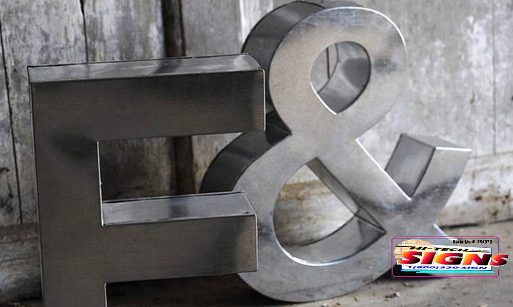 sanded aluminum letters
