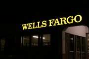 wells fargo wall sign
