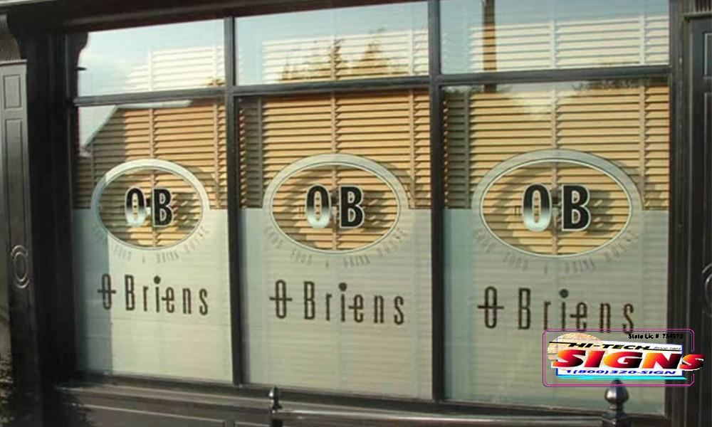 sign company window sign fabrication and installation services