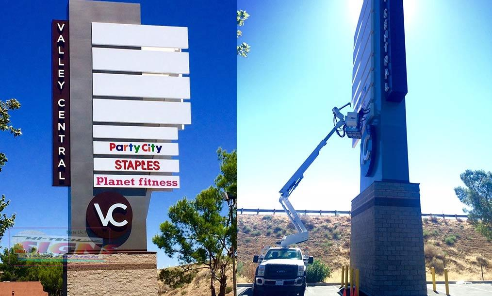Planet-fitness-pole-sign-in-Lancaster-ca