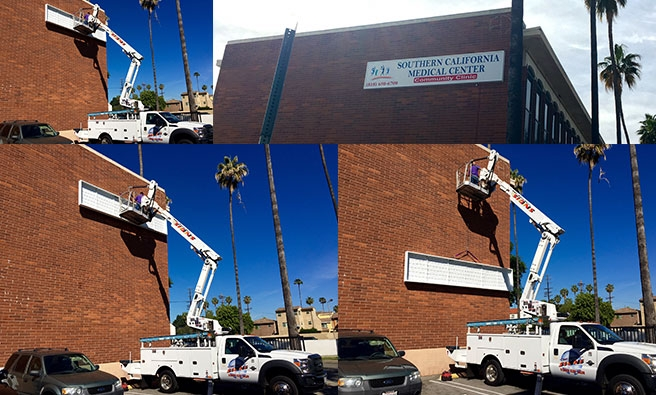 Southern California Medical Clinic Wall Sign Installation
